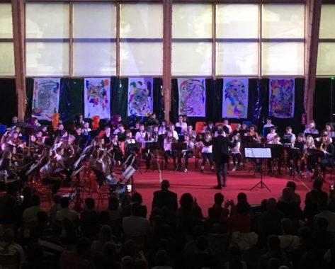120 musiciens sur scène pour le premier concert de l'orchestre à l'école des Combrailles