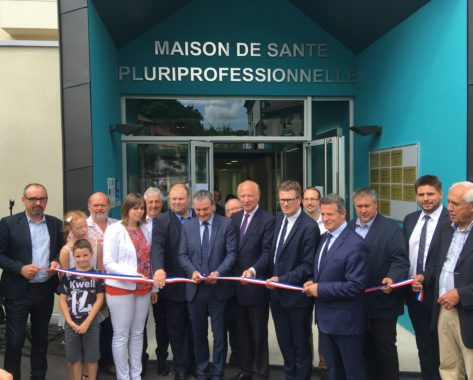 Inauguration de la Maison de Santé Pluriprofessionnelle de Pontgibaud, sous le soleil !