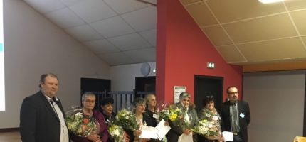 Remise des médailles d'honneur lors de la soirée intercommunale du 14 mars