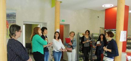 L'équipe de travail MSAP en visite dans le Cantal