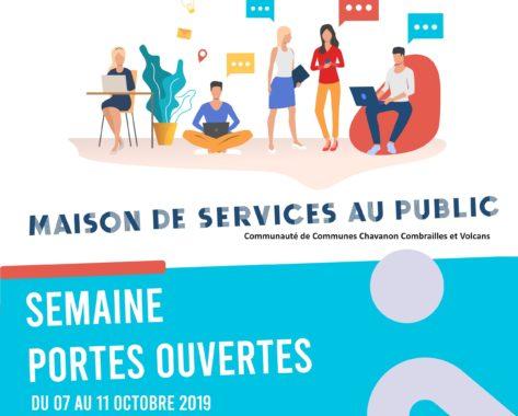 Journées Portes Ouvertes Maisons de Services au Public 2019