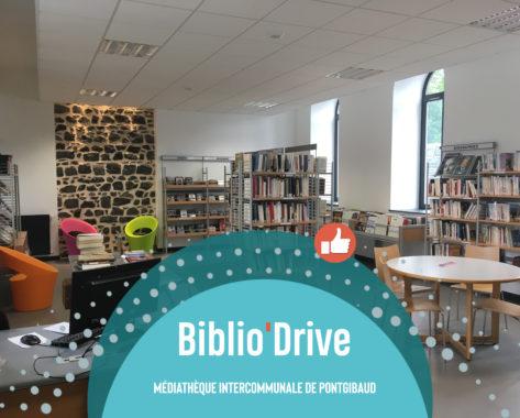 Biblio'drive à la médiathèque intercommunale de Pontgibaud