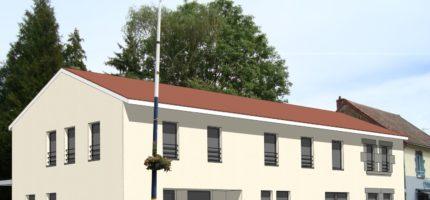 Lancement des travaux pour l'aménagement d'un immobilier d'entreprises / 3 logements à Bromont-Lamothe
