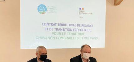 Signature du Contrat Territorial de Relance et de Transition Ecologique Chavanon Combrailles et Volcans